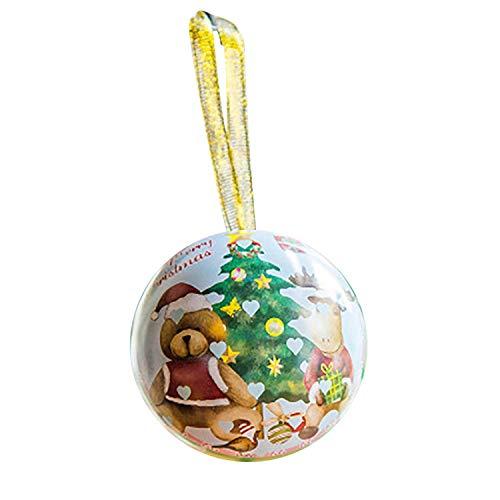 1Pc Boxes Santa Claus Snowman Christmas Tree Ball Boxes Candy Box Christmas Decoration,C -
