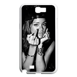 Rhianana Samsung Galaxy Note 2 7100 White Cell Phone Case GSZWLW2239 Hard Phone Case