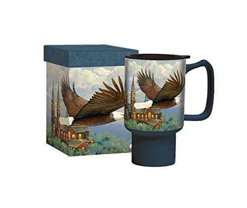 Lang 2127027 Spiritual Eagle Travel Mug by Sam Tim, Assorted