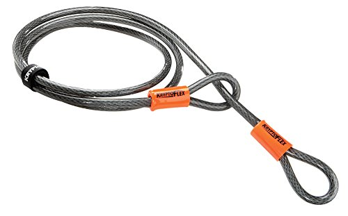 Padlock Bike Lock - Kryptonite KryptoFlex Looped Bike Security Cable