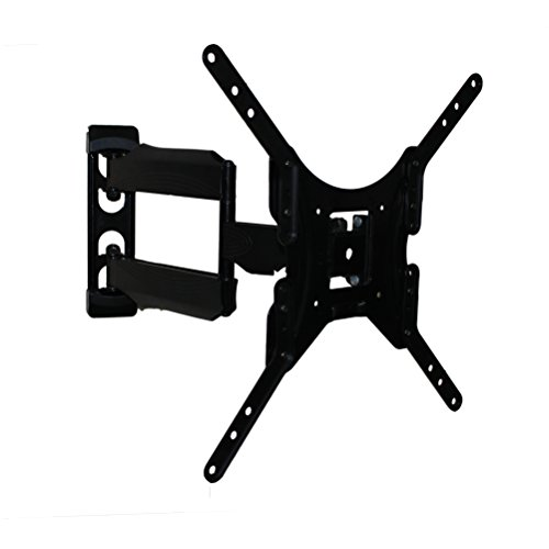 Rocelco VMDA Medium Double Articulated TV Mount for TV Up to 46 Inches (Black)