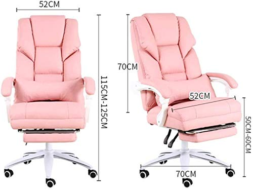 Datorstol, bekväm spelstol sovrum roterande kontorsstol positiv sovchef stol 70 x 70 x 115 cm fåtölj