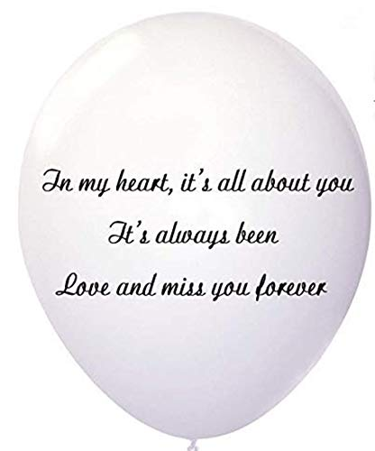 Amaya Remembrance Bereavement Balloons, White Personalizable Funeral Balloons for Memorial Table, Memory Releases, Condolence, Anniversary, Sympathy Gifts 30Pc White Biodegradable Balloons