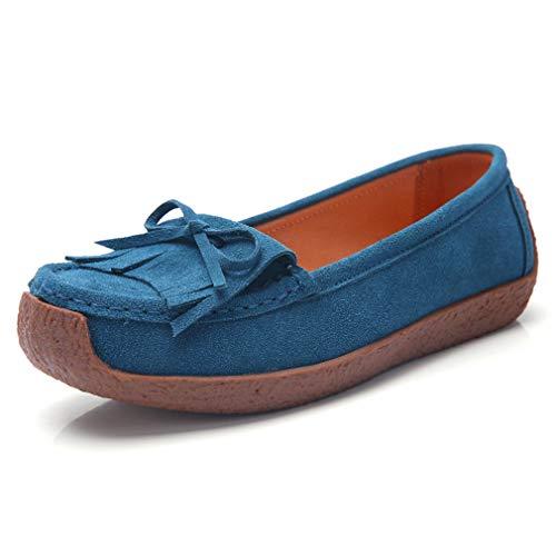 Profonde Piatta Donna Bocca blue 42uk Goldgod Donne Gravidanza Pelle Scarpe Single Scarpa In Pigro Poco 7YxxqPTw