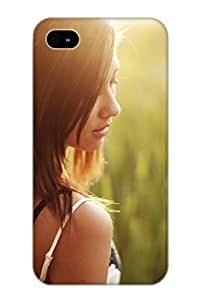 Crooningrose New Arrival Iphone 4/4s Case Girl In Grass Field Case Cover/ Perfect Design