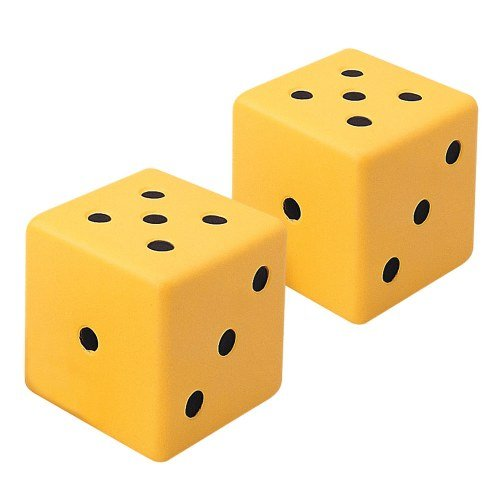Jumbo Dot Dice (Set of 2) - Dice Large Extra