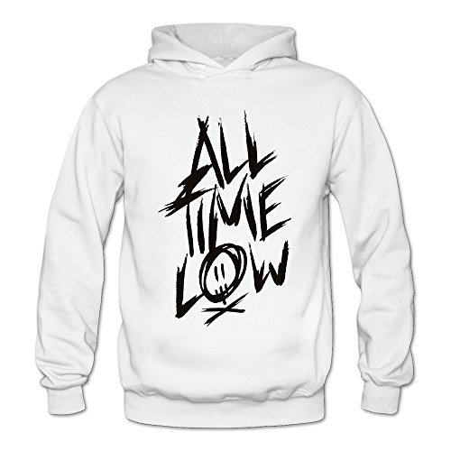 MARY Women's American Pop Punk Band All Time Low Hoodie White