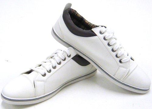 Sportliche Herren Schuhe Freizeit Sneaker Skater Schuhe Weiß