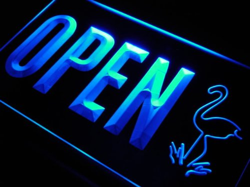 OPEN Flamingo Animals LED Sign Neon Light Sign Display j859-b(c) by AdvPro 3D Sign