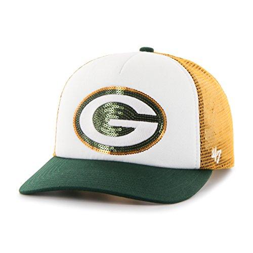 NFL Green Bay Packers Women's Glimmer Captain CF Strap Hat, Women's, Gold - Green Bay Womens Hat