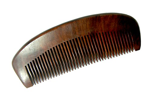NareeGreen 100% Handmade Premium Quality Natural Rosewood comb Anti-static Health Care Wooden Men's Grooming Comb for Beards and Moustaches – Medium T…