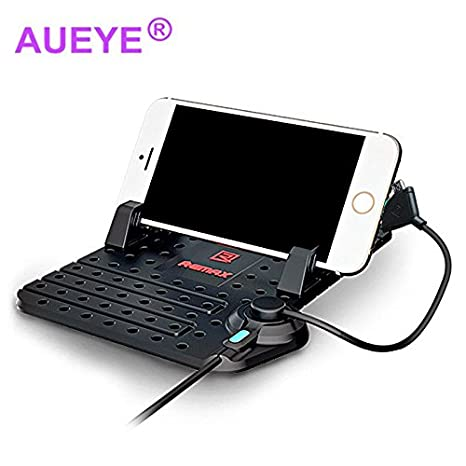 aueye imán Universal de silicona coche teléfono soporte con conector magnético carga soporte para salpicadero de