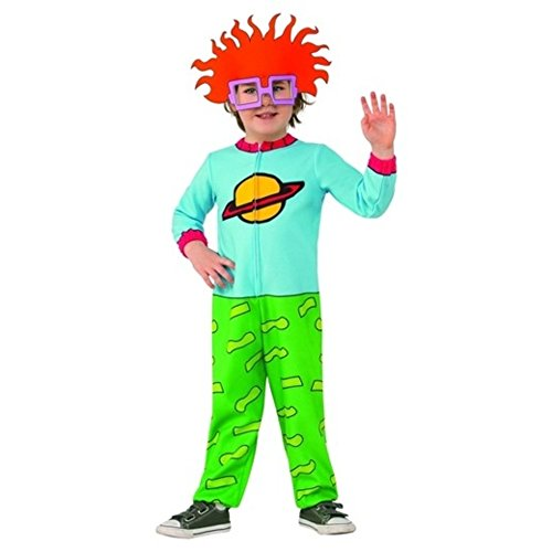 Onceuponasale Kids Rugrats Chuckie Costume Size 3T-4T Halloween Dress Up Play Toddler