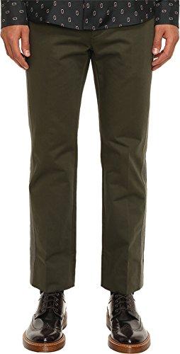 Marc Jacobs Men's Cotton Sateen Trousers, Forest Night, 54 (US 38) X One Size Marc Jacobs Men Pants
