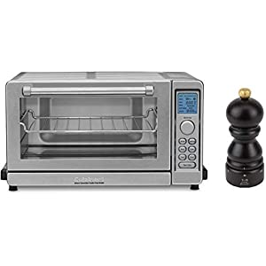 Cuisinart TOB-135 Deluxe Convection Toaster Oven Broiler, Brushed Stainless (Renewed) W/Peugeot Paris U'Select 5 Inch Pepper Mill