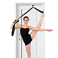 tchrules Leg Stretcher, Door Flexibility & Stretching Leg Strap - Great for Ballet Cheer Dance Gymnastics or Any Sport Leg Stretcher Door Flexibility Trainer Premium Stretching Equipment