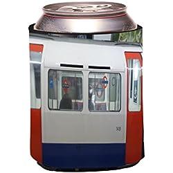 """Rikki Knight RKws--44697 """"London Underground Subway Train Design"""" Beer Can/Soda Drink Cooler"""