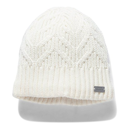 Under Armour Women's Around Town Beanie, Ivory (130)/Steel, One Size
