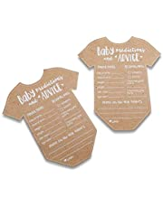 Kate Aspen 28440NA Baby Prediction/Advice Card, (Set of 50) Shower Game One Size Kraft, white