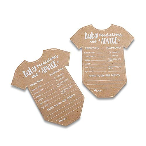Kate Aspen 28440NA Baby Prediction/Advice Card, (Set of 50) Shower Game, One Size, kraft, white