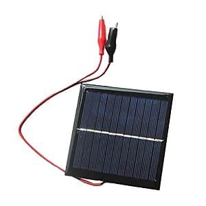 Baoblaze Cargador Panel Solar Placa Solar Banco de Poder, Portátil al Aire Libre + Clips de Carga 3.7v