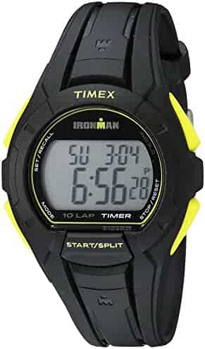Timex Men's TW5K93800 Ironman Essential 10 Full-Size Black/Yellow Resin Strap Watch