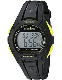 Men's TW5K93800 Ironman Essential 10 Full-Size Black/Yellow Resin Strap Watch