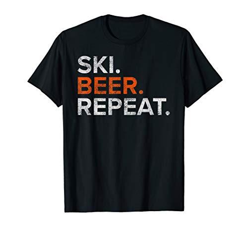 (Vintage Ski Beer Repeat Funny Distressed T-Shirt )