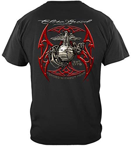 USMC Shirts | Elite Breed USMC Red Blades Silver Foil T Shirt ADD-THM2068M