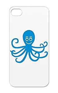 TPU Animal Animals Nature Water Octopus Diving Ocean Fish Zoo Sea Marine Life For Iphone 5 Navy Cover Case