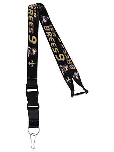 NFL New Orleans Saints Drew Brees Players Action Lanyard ()