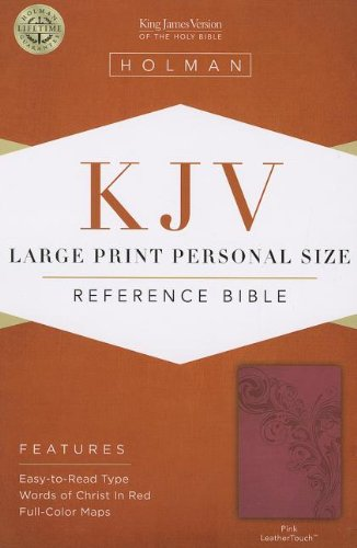 KJV Large Print Personal Size Reference Bible, Pink LeatherTouch ebook