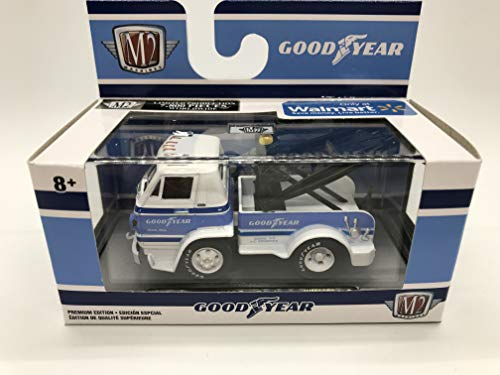 M2 Machines by M2 Collectible Good Year 1966 Dodge L600 Tow Truck 1:64 Scale WMTS09 19-10 White/Blue Details Like NO Other! 1 of 7800 (Tow Truck Diecast)