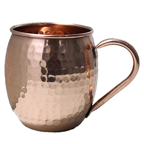 STREET CRAFT Authentic Handcrafted Moscow Mules Copper Mugs 100% Pure Copper Solid Moscow Mule Mug 24 Ounce Extra Large Size No Lining Hammered Finish