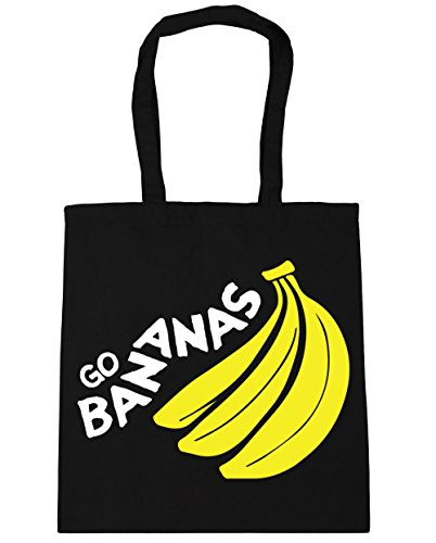 Black Tote Gym Beach Bag x38cm litres HippoWarehouse 10 42cm Shopping Go Bananas ZxqcpRS