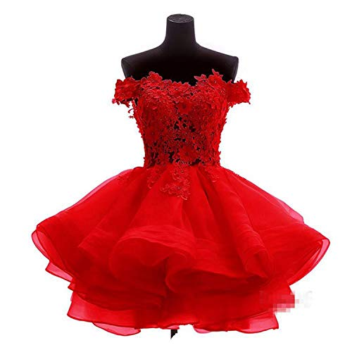 Women's Off The Shoulder Organza Short Ball Gown Prom Homecoming Dress Party Dresses 520 ()