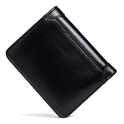 Yter monnaie Porte Porte Homme Cartes De Portefeuille Débit cartes Hommes Black En Cuir Pour Véritable Crédit XX1rS