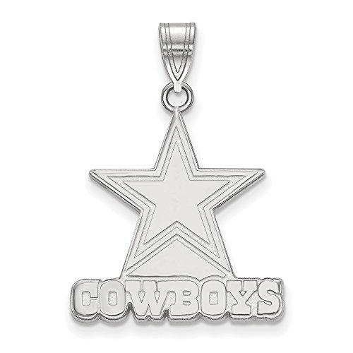 Sterling Silver Dallas Cowboys Large Pendant