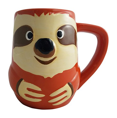 Tag 3D Coffee Mug Jungle Sloth Never Let You Go Earthenware 16 Ounce -