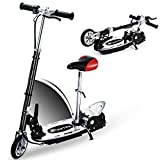 Overwhelming Upgrade E120 Adjustable Handlebar and Seat Folding Electric Scooter for Kids,177lbs Max Weight Capacity No Kick to Start Motorized Scooters with Removable Seat