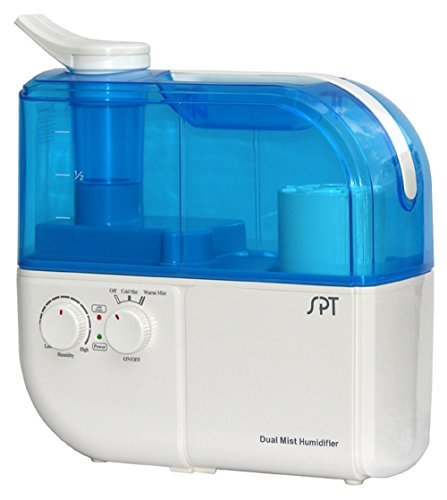 500 sq. ft. Dual Mist Humidifier w/ ION Exchange Filter and Overheat Protection