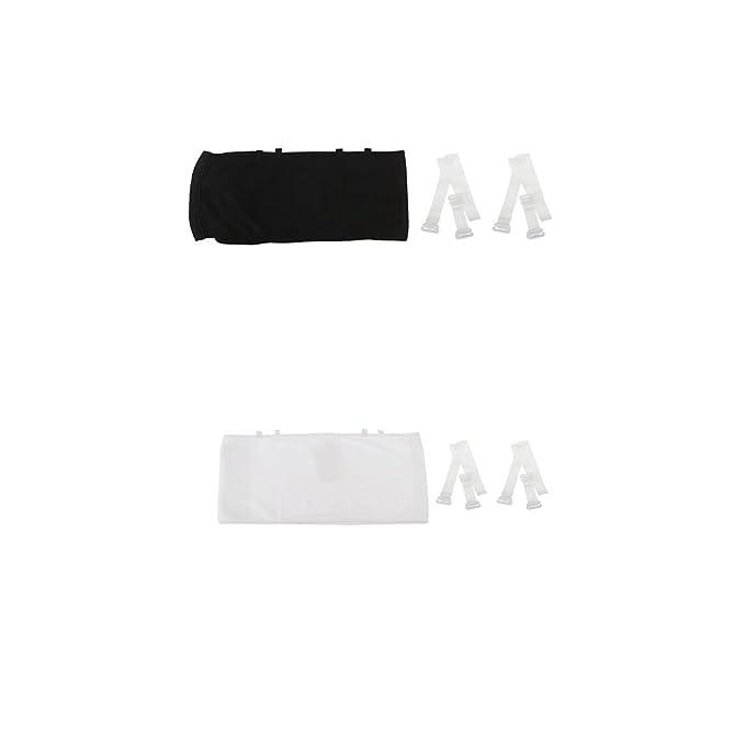 P Prettyia Sujetador Camisa Sin Tirantes Sin Respaldo de Algodón 9 Filas Mujer Ropa Cómoda Durable - Blanco negro, SG: Amazon.es: Ropa y accesorios