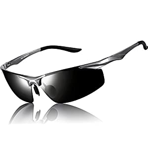 ATTCL Men's Sports Polarized Sunglasses Driver Golf Fishing Al-Mg Metal Frame 2206 GrayGray