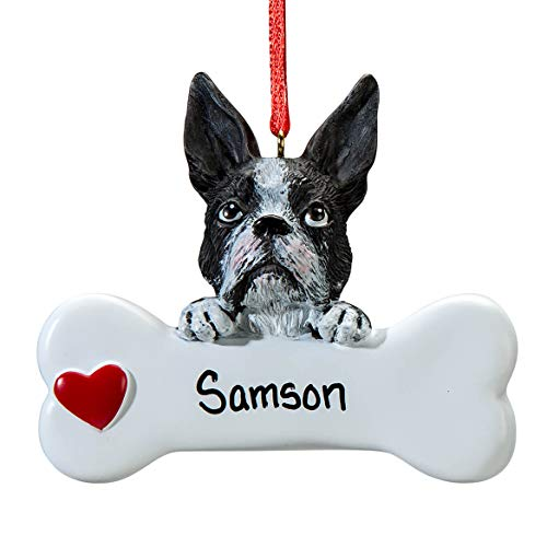 Fox Valley Traders Personalized Boston Terrier Ornament