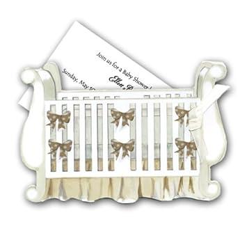 Amazon.com: Para cuna de bebé Baby Shower invitaciones ...