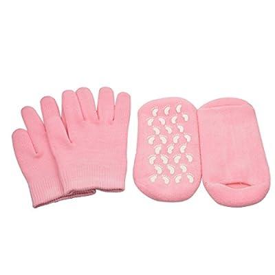 inkint Hand & Feet Moisturizing Gel Gloves + Socks Kit Pedicure Manicure Whitening SPA Treatment Tools Accessories Moisturizer Rejuvenation Gloves Socks Set for Women