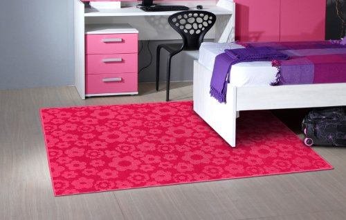 Garland Rug Flowers Area Rug, 7-Feet 6-Inch by 9-Feet 6-Inch, Pink (Flower Rug Weave)