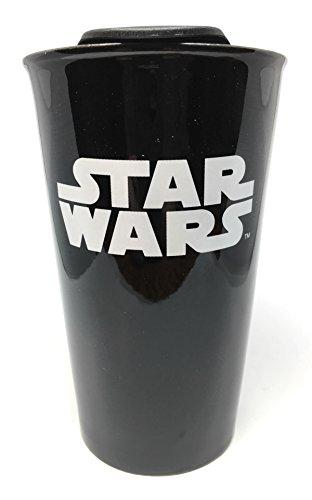 Star Wars Black Ceramic Sliding-Lid Travel Mug