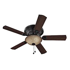 Harbor Breeze 52 In Lynstead Specialty Bronze Finish Ceiling Fan With Light Kit Amazon Com