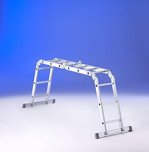 Escalera Svelt MULTI-POSICIONES Lady 12 de aluminio estruso ribordato con estabilizadores: Amazon.es: Bricolaje y herramientas
